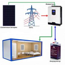 Солнечная электростанция  Бытовка - 3 (Независимость)