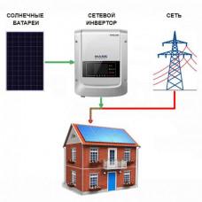 Сетевая солнечная электростанция «Дом-1» (Экономия)